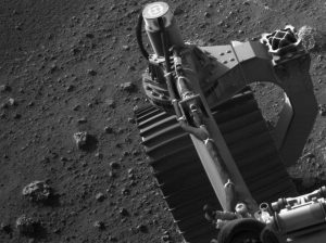 Perseverance is carrying an advanced payload of science instruments to gather information about the planet's geology, atmosphere and environmental conditions. The camera that took this image is located high on the rover's mast and aids in driving.
