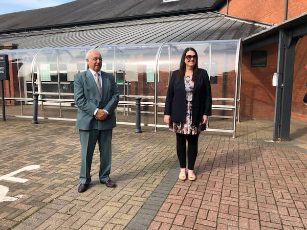 Northwich Guardian: John Dwyer and Councillor Millie Morris