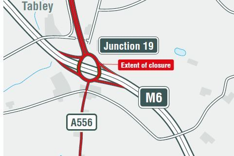 A graphic showing the closure - Picture: National Highways: North-West