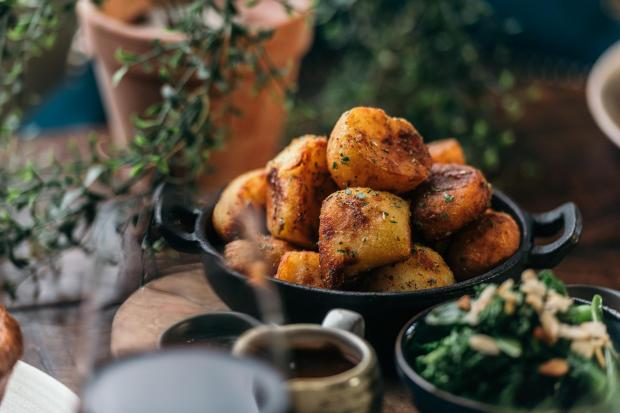 Northwich Guardian: The Botanist's roast potatoes ready for the 'Pro-tato' tester