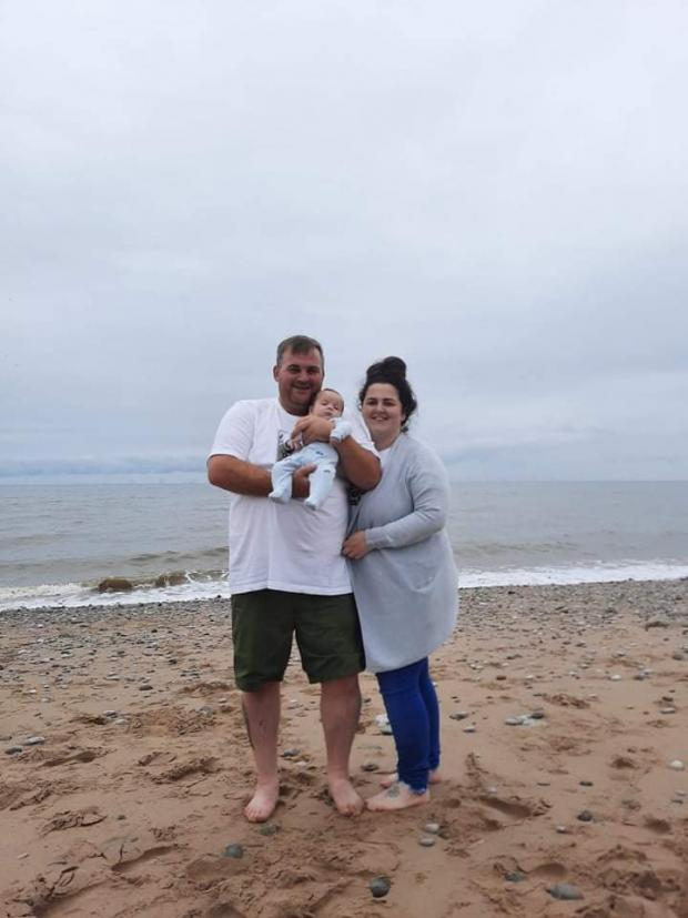 Northwich Guardian: Giorgia and her partner Kev and baby Roman