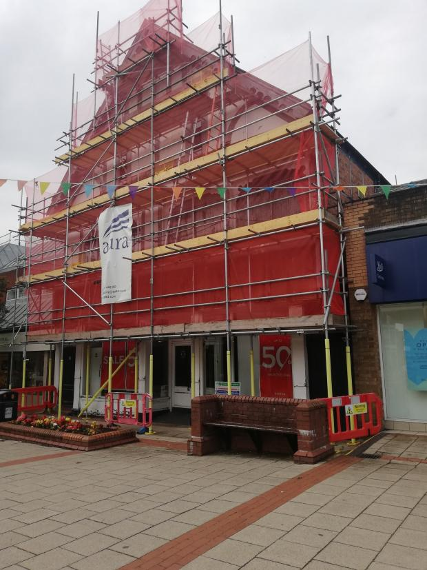 Northwich Guardian: The scaffolding is set to come down next month